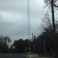 Photo taken at Moonlight Tower (15th & San Antonio) by Desdemona B. on 2/26/2015
