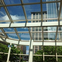 Photo taken at Prudential Center Courtyard & Garden by The poor student on 7/4/2013