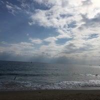 Photo taken at Haeundae Beach by Jooyeon L. on 2/8/2016