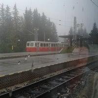 Photo taken at Železničná stanica Štrbské Pleso by neiljohnford on 8/21/2013