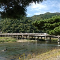 Photo taken at Togetsu-kyo Bridge by strike on 10/8/2012
