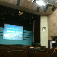 Photo taken at Studio 1 Radio MMTC Yogyakarta by Pandu W. on 12/27/2013