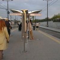 Photo taken at Cevizlibağ - A.Ö.Y. Tramvay Durağı by Timuçin Ç. on 11/3/2012