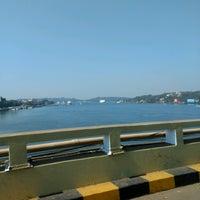 Photo taken at Mandovi Bridge by Douglas V. on 12/25/2016