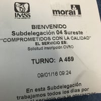 Photo taken at Subdelegacion 4 Sureste IMSS by Blanca on 9/1/2016
