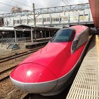 Photo taken at Akita Station by Masahiro I. on 4/25/2013