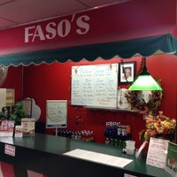 Photo taken at Faso's PIZZA by Rob K. on 11/16/2013