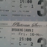 Photo taken at Platinum Screens by Sinta R. on 11/16/2012
