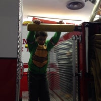 Photo taken at Lane Street Fire House (Bay Rats) by Alison R. on 11/8/2014