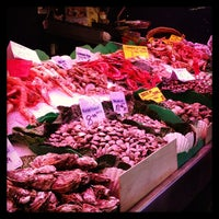Photo taken at Mercat de Sant Josep - La Boqueria by Irina M. on 3/8/2013