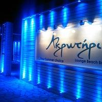 Photo taken at Ακρωτήριο Lounge Beach Bar by Ilias V. on 5/28/2013