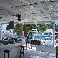 Photo taken at Ακρωτήριο Lounge Beach Bar by Ilias V. on 5/26/2013