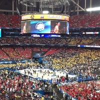 Photo taken at Georgia Dome by Eric K. on 4/6/2013