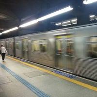 Photo taken at Estação São Joaquim (Metrô) by Cyro K. on 9/25/2012
