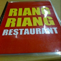 Photo taken at Riang Riang Restaurant by Abby H. on 1/13/2013