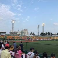 Photo taken at Cheongju Baseball Stadium by InHee L. on 6/27/2017
