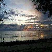Photo taken at Pantai Kelanang by Sara K. on 1/5/2013