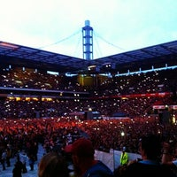 Photo taken at RheinEnergieStadion by Natalia E. on 6/23/2013