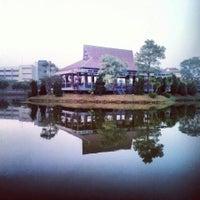 Photo taken at Danau Universitas Terbuka (UT) by Hendra E. on 4/3/2014