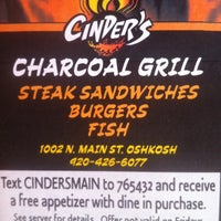 Photo taken at Cinder's Charcoal Grill by Treece on 10/17/2012