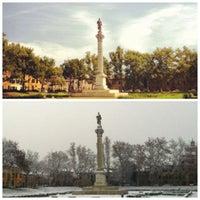 Photo taken at Piazza Ariostea by Vinicius R. on 12/8/2012