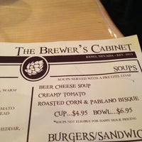 Menu - The Brewer's Cabinet - 475 S Arlington Ave