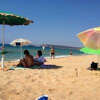 Photo taken at Spiaggia Torre dei Corsari by Ozlem E. on 8/24/2013