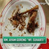Photo taken at Ayam Goreng Ny. Suharti by R E Z A on 1/1/2013