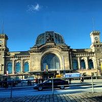 Photo taken at Dresden Hauptbahnhof by Daniel Eran D. on 12/28/2012