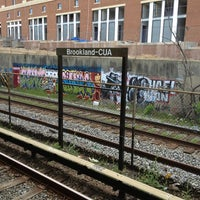 Photo taken at Brookland-CUA Metro Station by Harjit on 4/24/2013