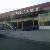 Photo taken at Syamsuddin Noor International Airport (BDJ) by anggi i. on 9/23/2012