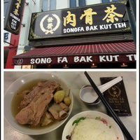 Photo taken at Song Fa Bak Kut Teh 松发肉骨茶 by Anthony U. on 1/19/2013