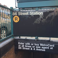 Photo taken at MTA Subway - 86th St (R) by Juan C. on 3/6/2017