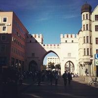 Photo taken at Karlsplatz (Stachus) by Victor C. on 10/3/2012