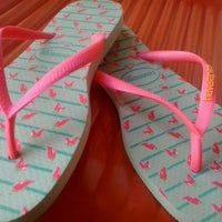 Photo taken at Havaianas by Aline D. on 10/6/2012