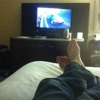 Photo taken at Holiday Inn Express Jacksonville Beach by Chad E. on 12/24/2012