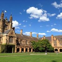 Photo taken at The University of Sydney (USYD) by Ari M. on 4/22/2013