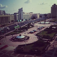 Photo taken at Гостиница «Минск» / Minsk Hotel by Vladimir N. on 7/10/2013