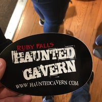 Photo taken at Ruby Falls Haunted Caverns by Jason E. on 2/11/2017