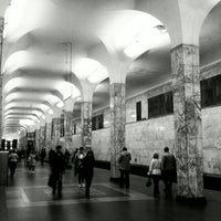 Photo taken at metro Avtozavodskaya by Iennifer on 10/2/2012