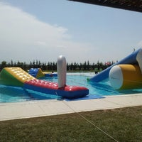 Photo taken at Piscines Municipals d'Alcarràs by Jessica C. on 7/14/2013