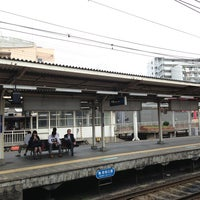 Photo taken at Juso Station (HK03) by Takashi S. on 6/24/2013