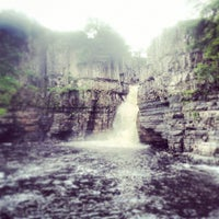 Photo taken at High Force Waterfall by Aarti G. on 6/29/2013