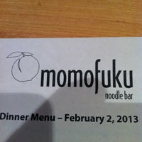 Photo taken at Momofuku Noodle Bar by Alonso H. on 2/3/2013