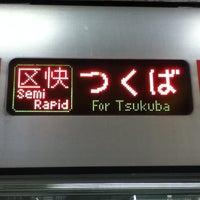 Photo taken at TX 秋葉原駅 ホーム by Kazukuni K. on 3/14/2014