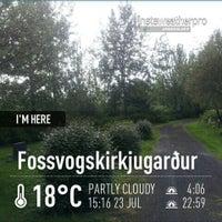 Photo taken at Fossvogskirkjugarður by Sigurlaug L. on 7/23/2013
