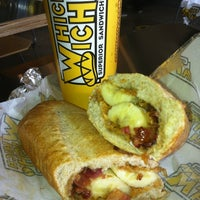 Photo taken at Which Wich? Superior Sandwiches by Chris R. on 1/8/2013