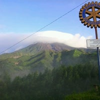 Photo taken at Gardu Pandang Merapi (Rotary 3400) by Arista F. on 1/12/2013