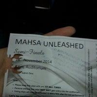 Photo taken at MAHSA Auditorium by Azrina K. on 11/28/2014