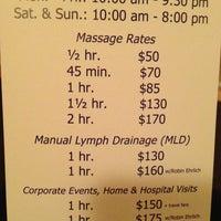 Photo taken at Eastside Massage Therapy by Suzana U. on 4/6/2013